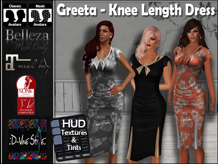 :: D!vine Style :: Greeta – Knee Length Dress