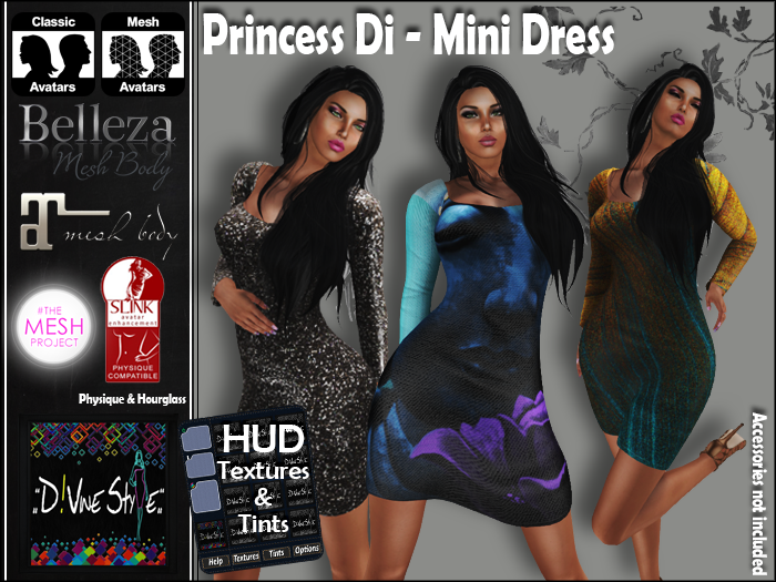 :: D!vine Style :: Princess Di – Mini Dress