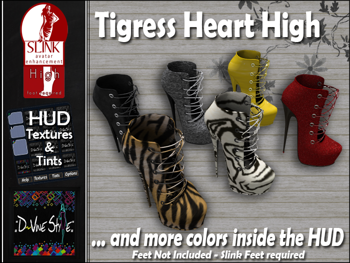 :: D!vine Style :: Tigress Heart Boots – Slink High and Mid