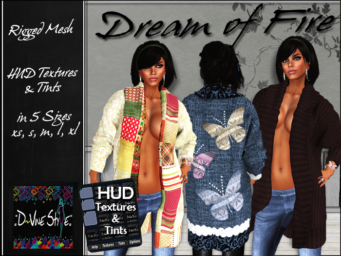 :: D!vine Style :: Dream of Fire – Cardigan – with HUD
