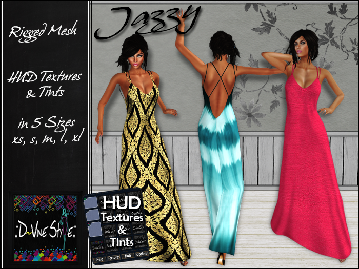 :: D!vine Style :: Jazzy – Long Dress – with HUD
