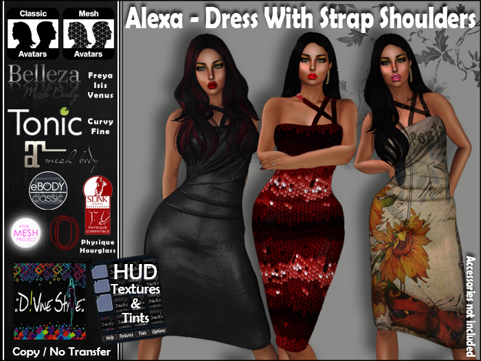 :: D!vine Style :: Alexa – Dress with Strap Shoulders