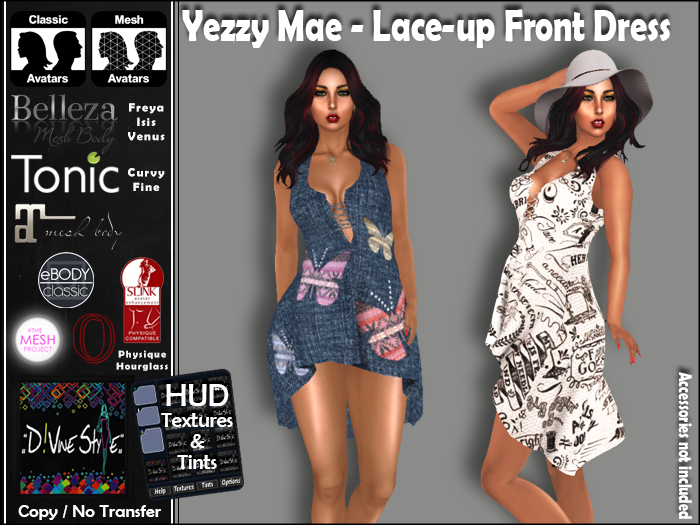 :: D!vine Style :: Yezzy Mae – Lace-up Front Dress