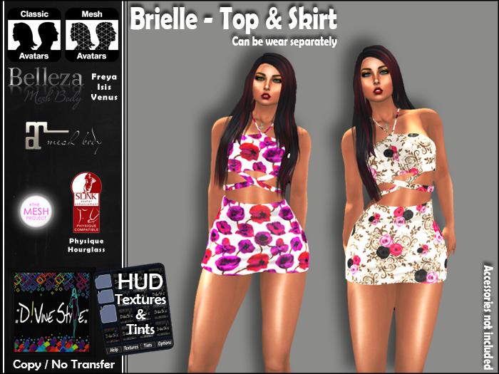 :: D!vine Style :: Brielle – Top & Skirt
