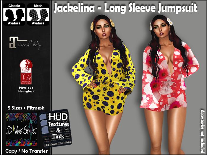:: D!vine Style :: Jackelina – Long Sleeve Jumpsuit