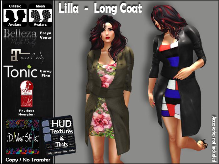 :: D!vine Style :: Lilla – Long Coat