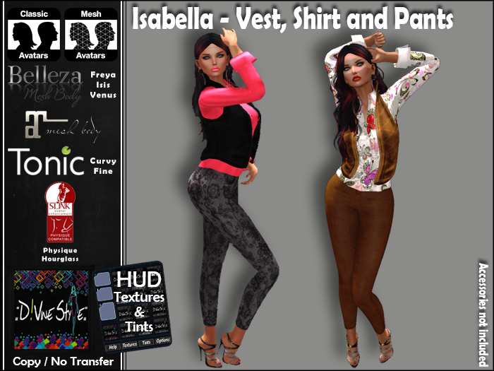 :: D!vine Style :: Isabella – Vest, Shirt and Pants