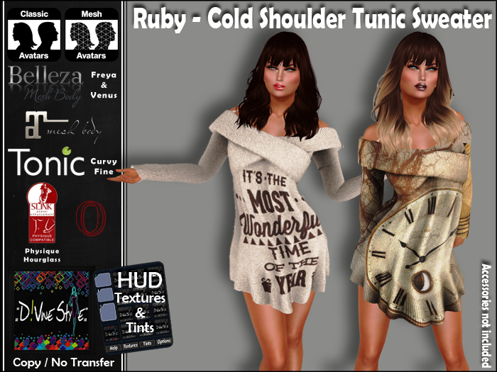 :: D!vine Style :: Ruby – Shoulder Cross Tunic Sweater