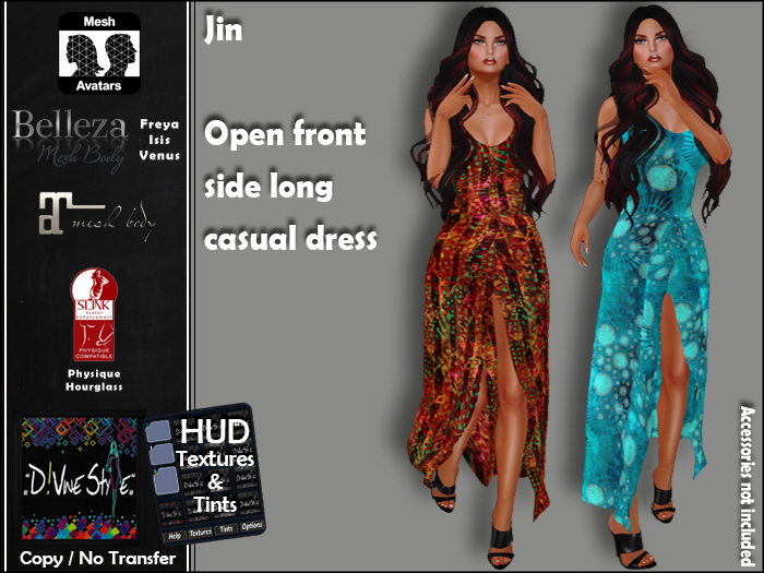 :: D!vine Style :: Jin – Open front side long casual dress