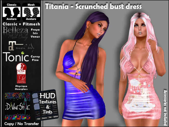 :: D!vine Style :: Titania – Scrunched bust dress